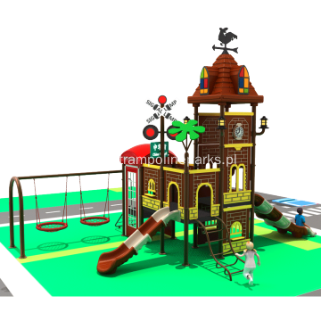 Outdoor Playground Complex With Swing Set